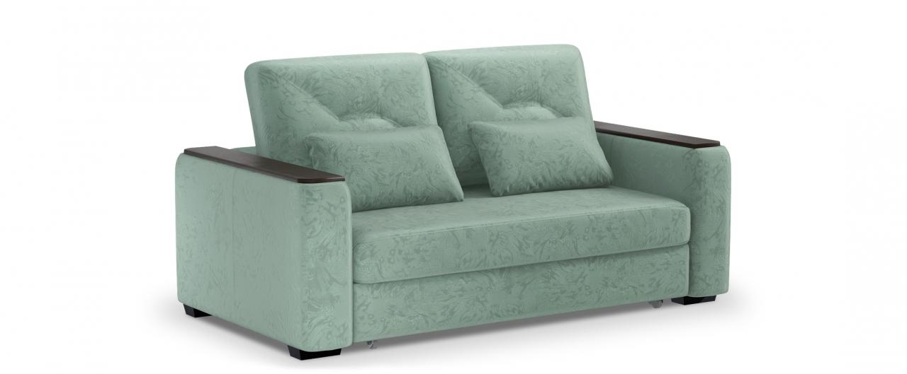 Диван прямой высоковыкатной Брюссель 082Гостевой вариант и полноценное спальное место. Размеры 184х110х93 см. Купить бирюзовый диван высоковыкатной в интернет-магазине MOON TRADE.<br>