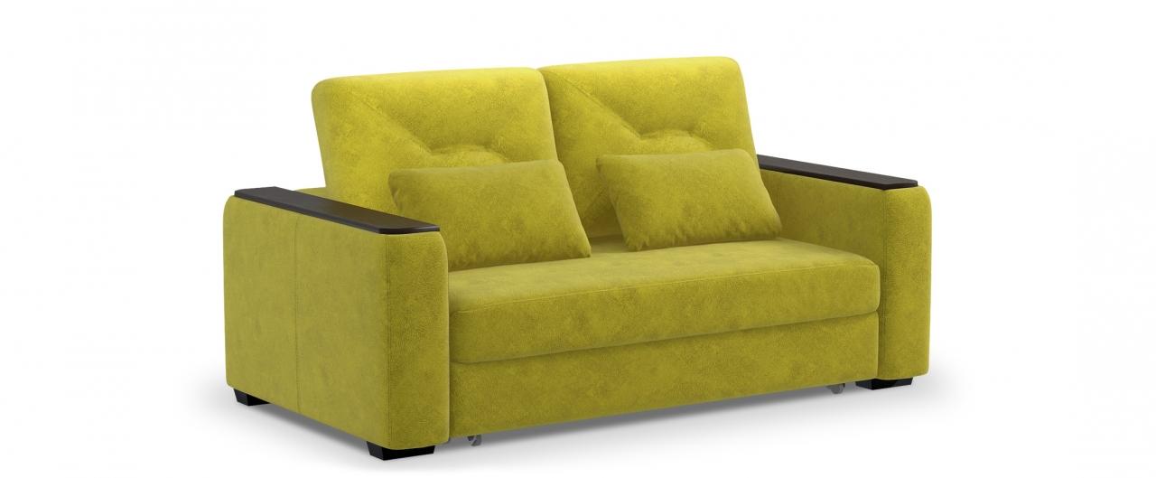 Диван прямой высоковыкатной Брюссель 082Гостевой вариант и полноценное спальное место. Размеры 184х110х93 см. Купить желтый диван высоковыкатной в интернет-магазине MOON TRADE.<br>