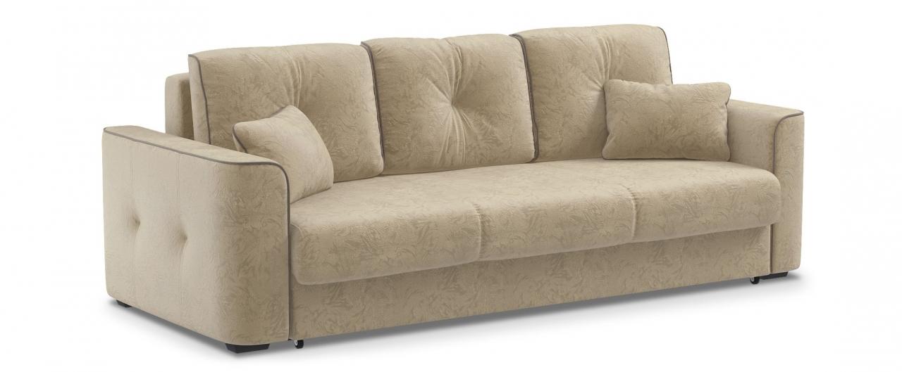 Диван прямой еврокнижка Турин 041Гостевой вариант и полноценное спальное место. Размеры 244х108х93 см. Купить светло-бежевый диван еврокнижка в интернет-магазине MOON TRADE.<br>