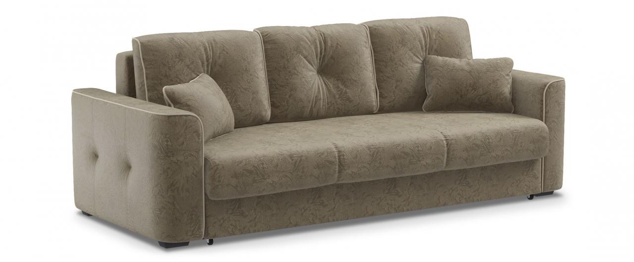Диван прямой еврокнижка Турин 041Гостевой вариант и полноценное спальное место. Размеры 244х108х93 см. Купить тёмно-бежевый диван еврокнижка в интернет-магазине MOON TRADE.<br>
