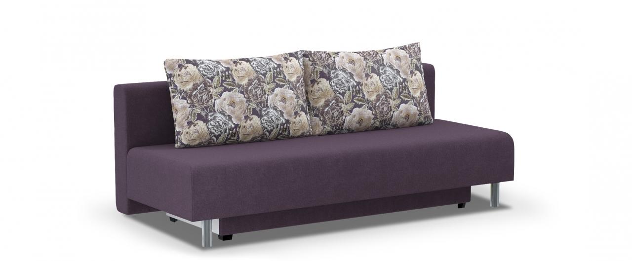 Диван прямой еврокнижка Парма 049Гостевой вариант и полноценное спальное место. Размеры 205х88х87 см. Купить фиолетовый диван еврокнижка в интернет-магазине MOON TRADE.<br>