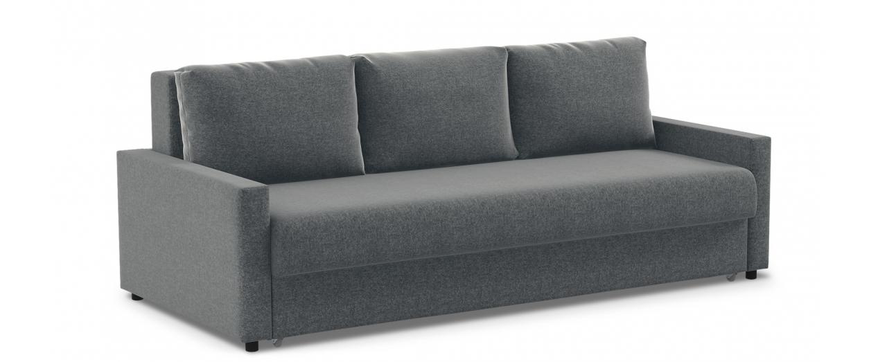 Диван прямой еврокнижка серый Дублин 132Гостевой вариант и полноценное спальное место. Размеры 225х108х95 см. Купить серый диван еврокнижка в интернет-магазине MOON TRADE.<br>