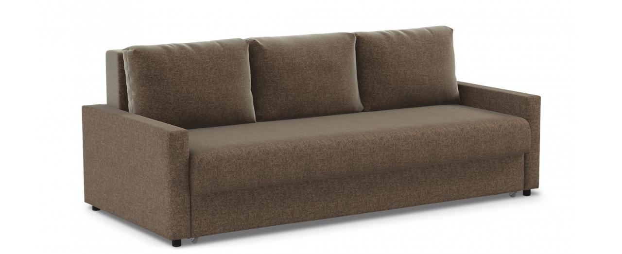 Диван прямой еврокнижка коричневый Дублин 132Гостевой вариант и полноценное спальное место. Размеры 225х108х95 см. Купить коричневый диван еврокнижка в интернет-магазине MOON TRADE.<br>