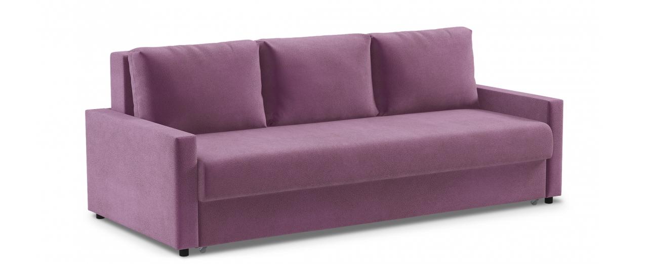 Диван прямой еврокнижка фиолетовый Дублин 132Гостевой вариант и полноценное спальное место. Размеры 225х108х95 см. Купить фиолетовый диван еврокнижка в интернет-магазине MOON-TRADE.RU.<br>