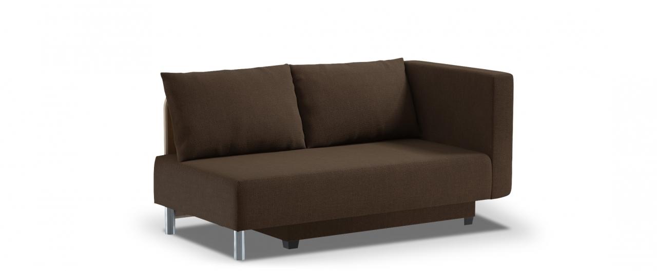 Диван прямой еврокнижка Лион 060Гостевой вариант и полноценное спальное место. Размеры 155х84х79 см. Купить коричневый диван еврокнижка с правым подлокотником в интернет-магазине MOON TRADE.<br>