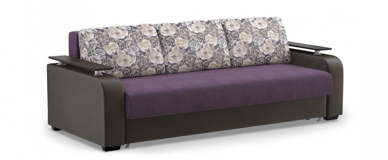 Диван прямой еврокнижка Марракеш 044Гостевой вариант и полноценное спальное место. Размеры 237х108х88 см. Купить фиолетовый диван еврокнижка в интернет-магазине MOON TRADE.<br>