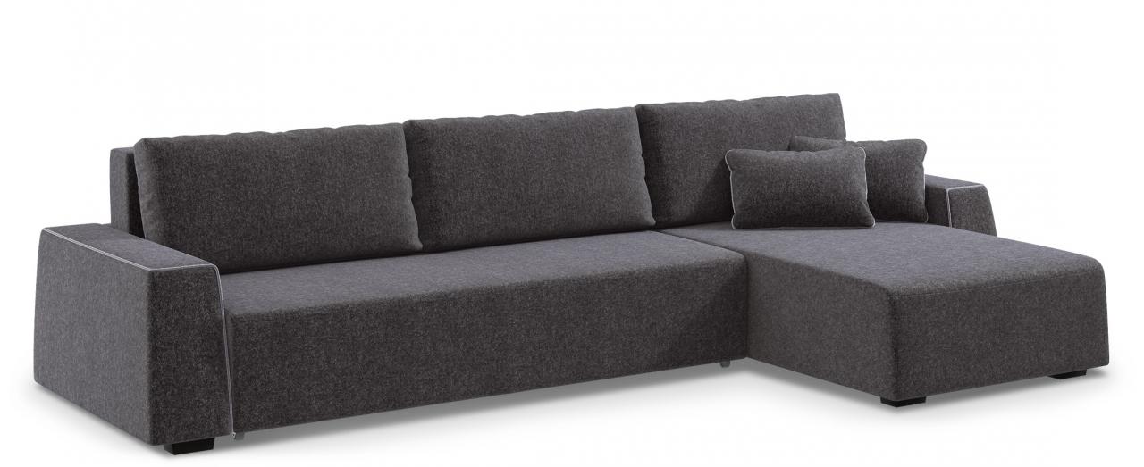 Диван угловой Манхэттен 067Гостевой вариант и полноценное спальное место. Размеры 360х186х88 см. Купить серый диван еврокнижка с универсальным углом в интернет-магазине MOON TRADE.<br>