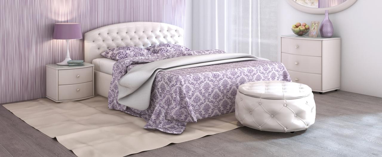 Кровать двуспальная Пальмира Модель 380 от MOON TRADE