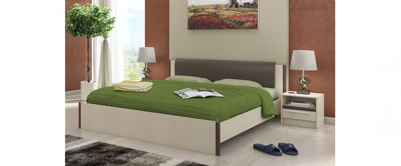 Кровать двуспальная Новелла Модель 290Элегантная кровать из ЛДСП сочетает в себе качество и изысканность. Впишется в любой интерьер. Спальное место 160х200 см. Гарантия 18 месяцев. Доставка от 1 дня.<br>