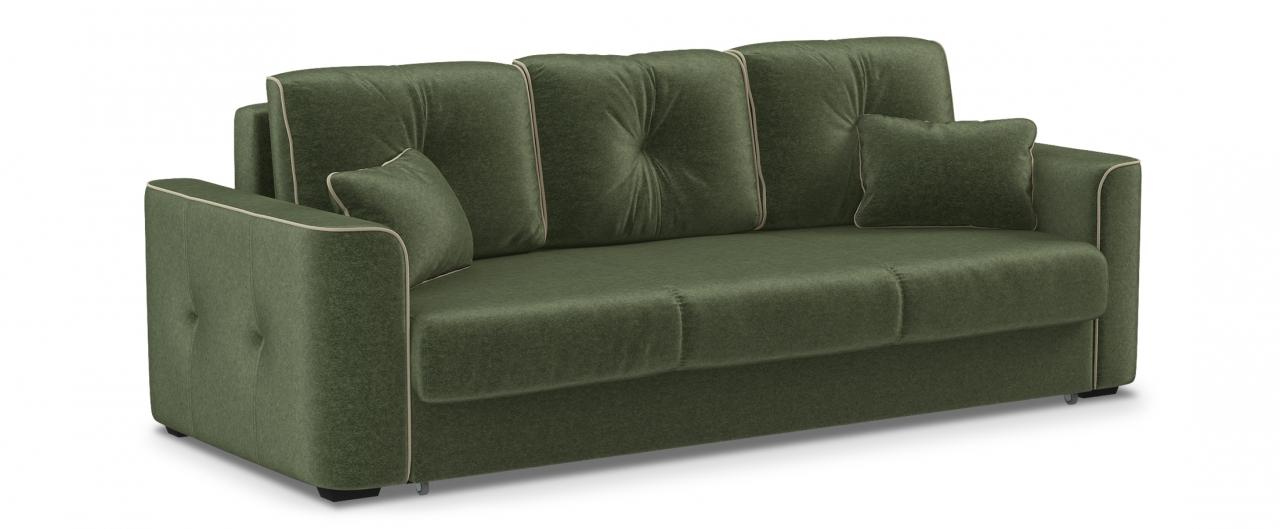 Диван прямой еврокнижка Турин 041Гостевой вариант и полноценное спальное место. Размеры 244х108х93 см. Купить зеленый диван еврокнижка в интернет-магазине MOON TRADE.<br>