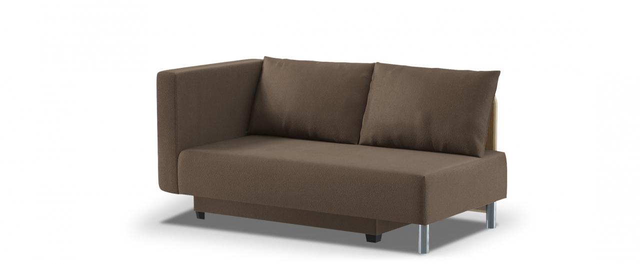 Диван прямой еврокнижка Лион 060Гостевой вариант и полноценное спальное место. Размеры 155х84х79 см. Купить коричневый диван еврокнижка с левым подлокотником в интернет-магазине MOON TRADE.<br>