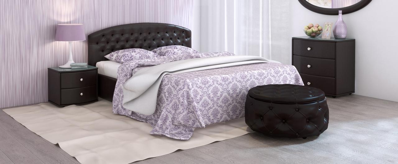 Купить Кровать двуспальная Пальмира Модель 380 в интернет магазине корпусной и мягкой мебели для дома и дачи