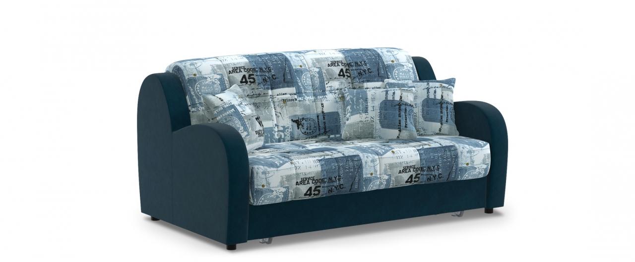Диван прямой аккордеон Барон 022Гостевой вариант и полноценное спальное место. Размеры 173х104х88 см. Купить синий диван аккордеон в интернет-магазине MOON TRADE.<br>