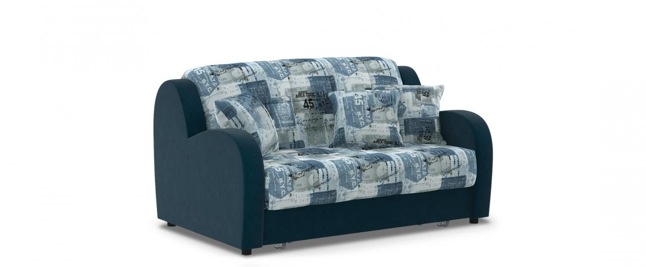 Диван прямой аккордеон Барон 022Гостевой вариант и полноценное спальное место. Размеры 153х104х88 см. Купить синий диван аккордеон в интернет-магазине MOON TRADE.<br>