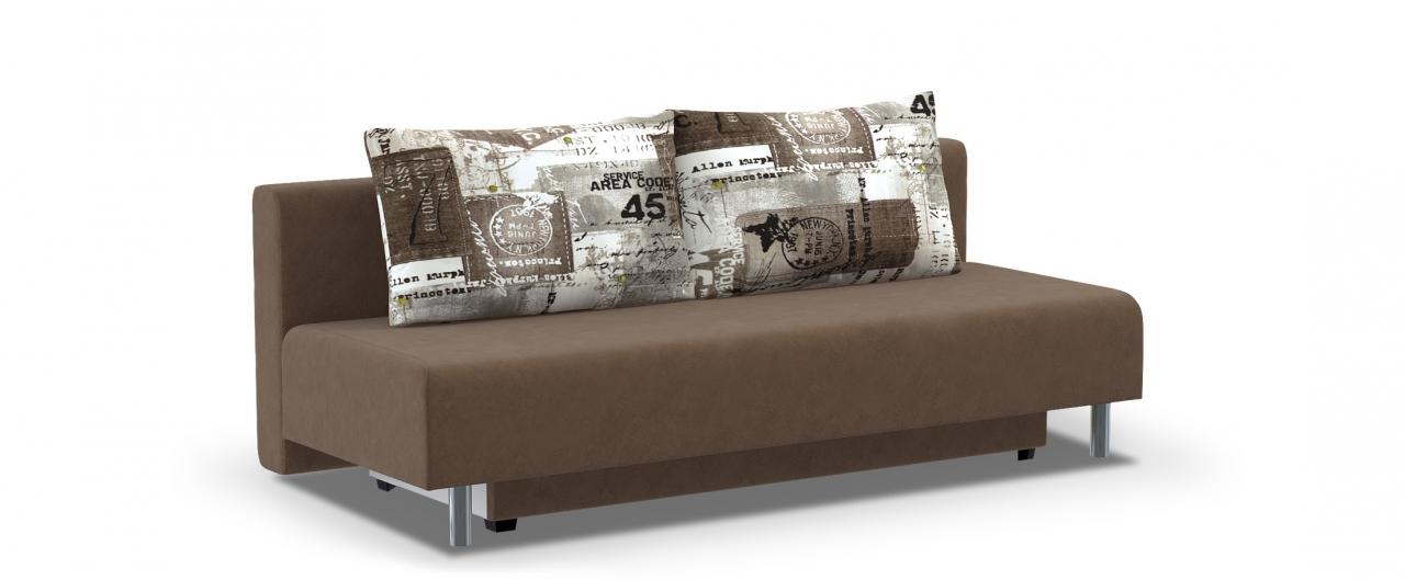 Диван прямой еврокнижка Парма 049Гостевой вариант и полноценное спальное место. Размеры 205х88х87 см. Купить коричневый диван еврокнижка в интернет-магазине MOON TRADE.<br>