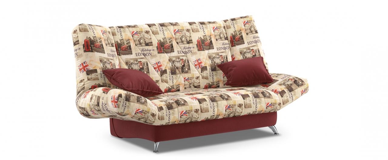 Диван прямой клик-кляк Санта Next 036Гостевой вариант и полноценное спальное место. Размеры 192х101х108 см. Купить бордовый диван клик-кляк в интернет-магазине MOON TRADE.<br>