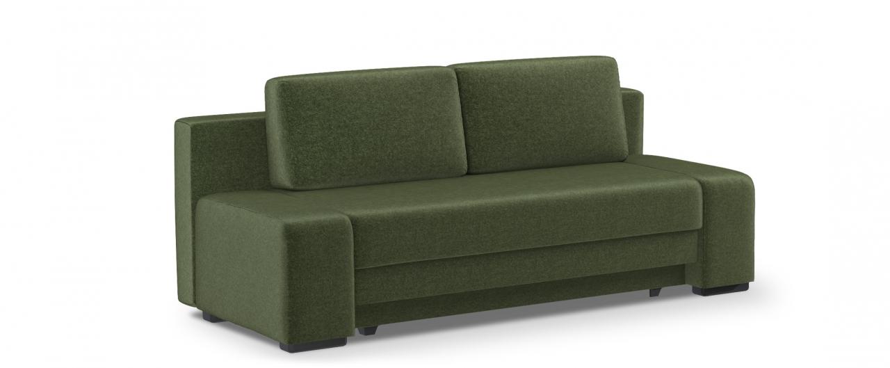 Диван прямой еврокнижка Токио 009Гостевой вариант и полноценное спальное место. Размеры 205х93х89 см. Купить зеленый диван еврокнижка в интернет-магазине MOON TRADE.<br>