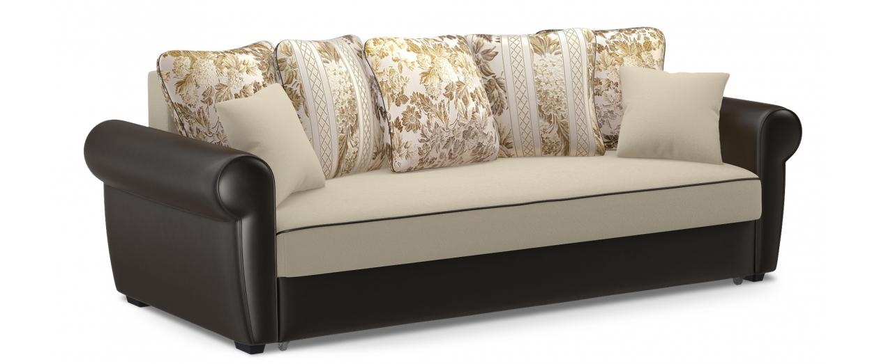 Диван прямой еврокнижка Рейн 123Гостевой вариант и полноценное спальное место. Размеры 243х108х94 см. Купить бежевый диван еврокнижка в интернет-магазине MOON TRADE.<br>