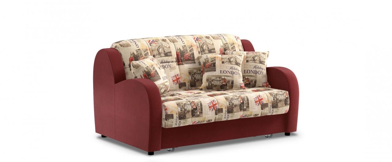 Диван прямой аккордеон Барон 022Гостевой вариант и полноценное спальное место. Размеры 153х104х88 см. Купить бордовый диван аккордеон в интернет-магазине MOON TRADE.<br>