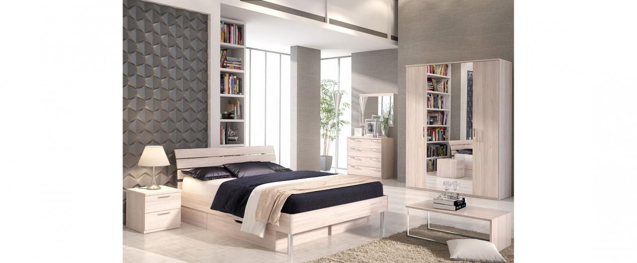 Купить Спальня Fresco светлая 595 в интернет магазине корпусной и мягкой мебели для дома и дачи