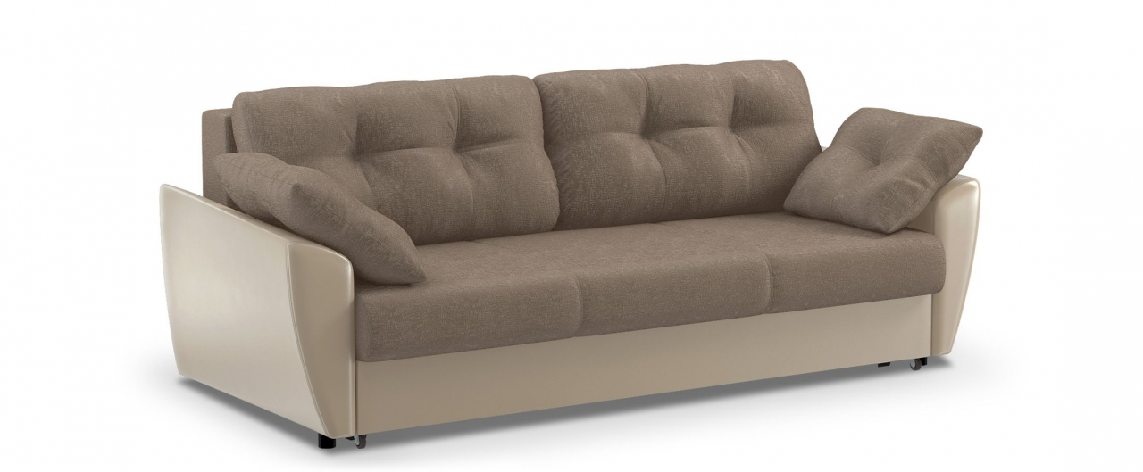 Диван прямой еврокнижка Амстердам 051Гостевой вариант и полноценное спальное место. Размеры 241х108х94 см. Купить бежевый диван еврокнижка в интернет-магазине MOON TRADE.<br>