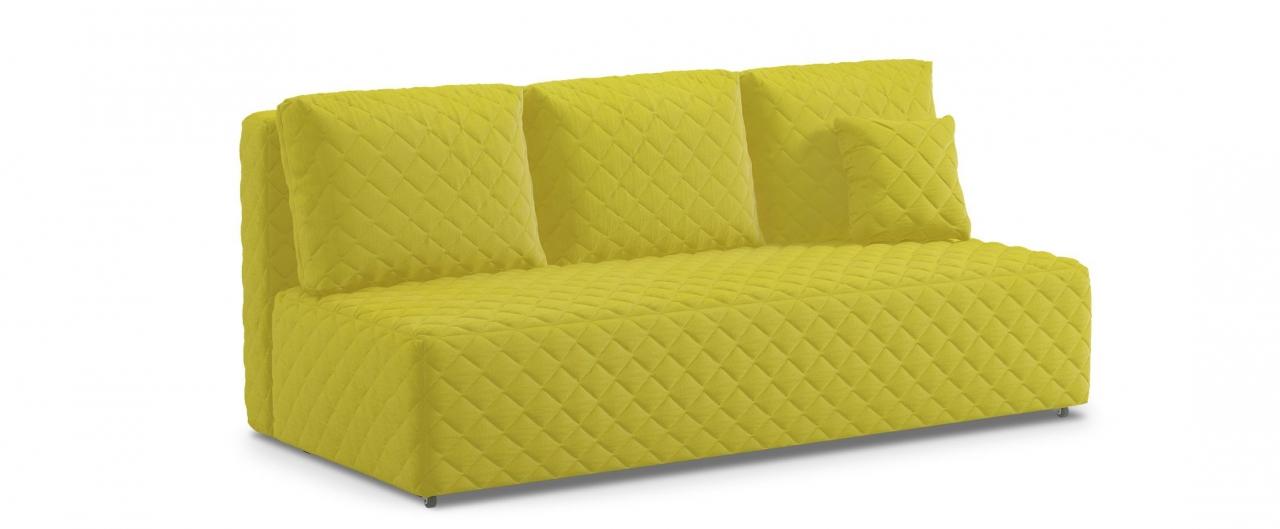 Диван прямой еврокнижка Марсель 087Гостевой вариант и полноценное спальное место. Размеры 207х102х92 см. Купить желтый диван еврокнижка в интернет-магазине MOON TRADE.<br>
