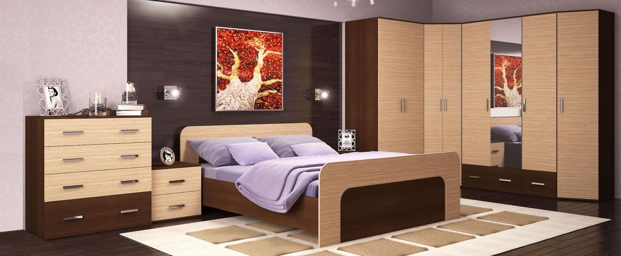 Спальня Колибри-1 Модель 514Минимальный набор из самого необходимого. Цвет кедр шоколадный. Гарантия 18 месяцев. Доставка от 1 дня.<br>