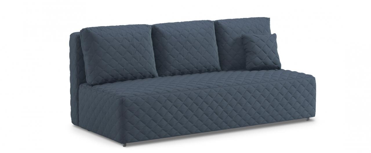 Диван прямой еврокнижка Марсель 087Гостевой вариант и полноценное спальное место. Размеры 207х102х92 см. Купить синий диван еврокнижка в интернет-магазине MOON TRADE.<br>