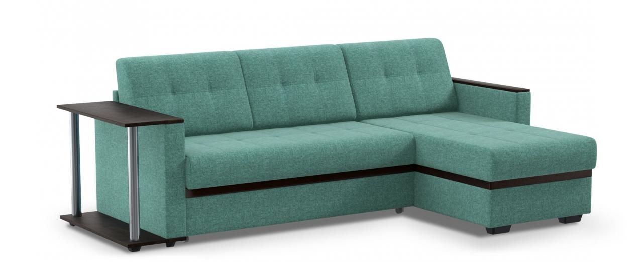Диван угловой дельфин Атланта 066Гостевой вариант и полноценное спальное место. Размеры 242х146х85 см. Купить бирюзовый диван дельфин с универсальным углом в интернет-магазине MOON TRADE.<br>