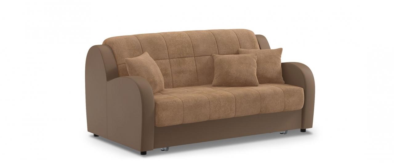 Диван прямой аккордеон Барон 022Гостевой вариант и полноценное спальное место. Размеры 173х104х88 см. Купить коричневый диван аккордеон в интернет-магазине MOON TRADE.<br>