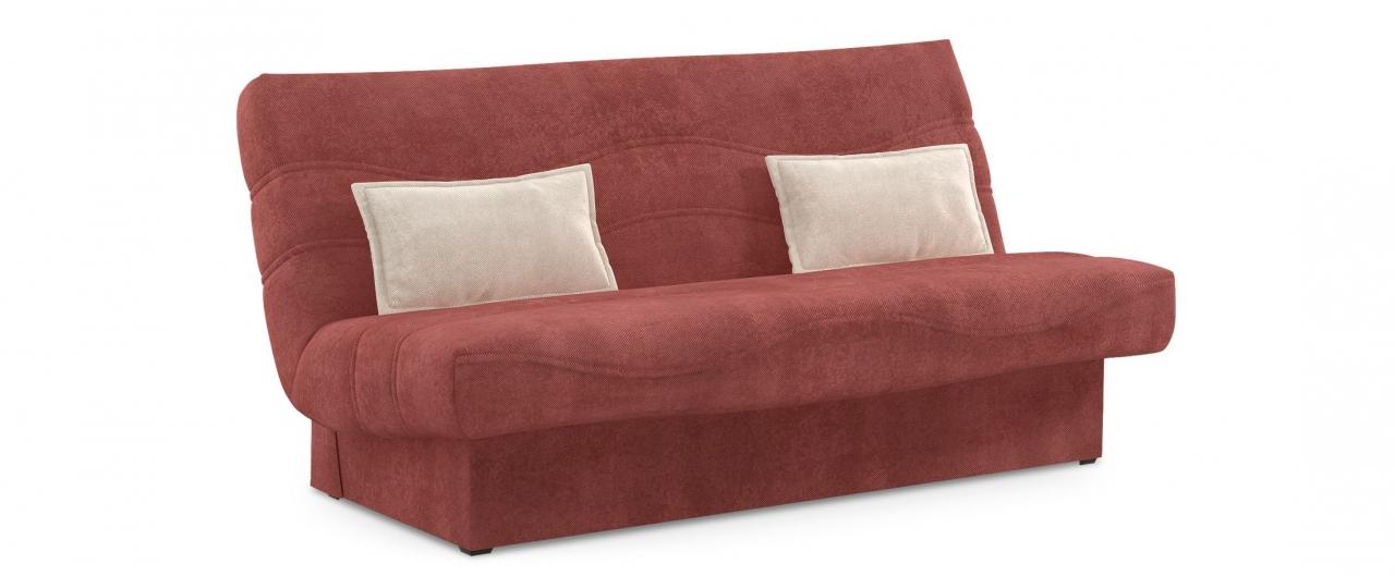 Диван прямой клик-кляк Баккара 037Гостевой вариант и полноценное спальное место. Размеры 200х108х105 см. Купить бордовый диван клик-кляк в интернет-магазине MOON TRADE.<br>