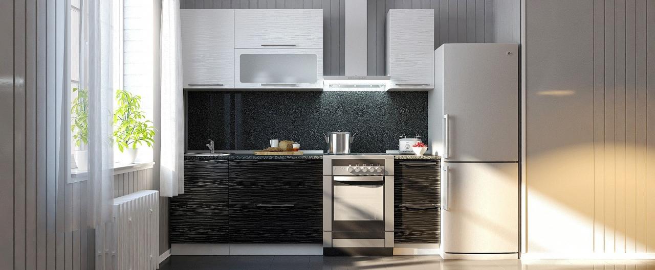 Купить Кухня Страйп 1,7 м в интернет магазине корпусной и мягкой мебели для дома и дачи