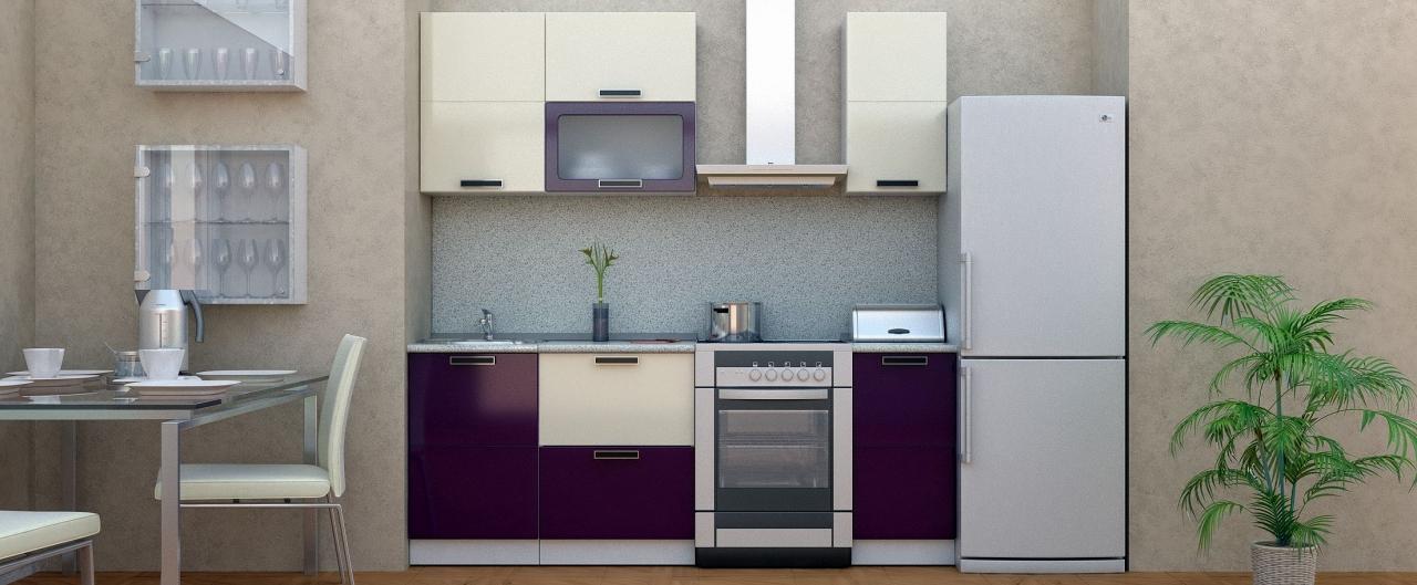 Купить Кухня Баклажан 1,5 м в интернет магазине корпусной и мягкой мебели для дома и дачи