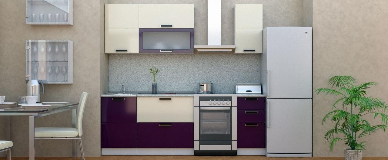 Купить Кухня Баклажан 1,7 м в интернет магазине корпусной и мягкой мебели для дома и дачи