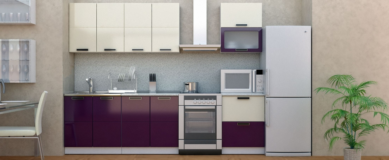 Купить Кухня Баклажан 2,2 м в интернет магазине корпусной и мягкой мебели для дома и дачи