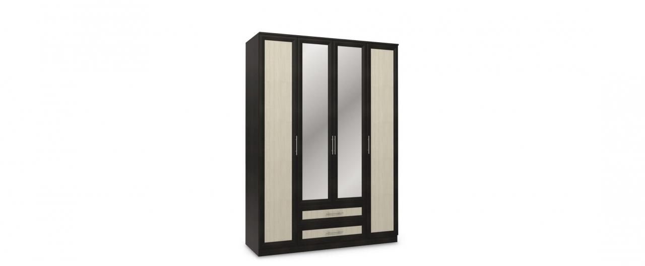 Купить Шкаф 4-дверный с зеркалами Юлианна в интернет магазине корпусной и мягкой мебели для дома и дачи