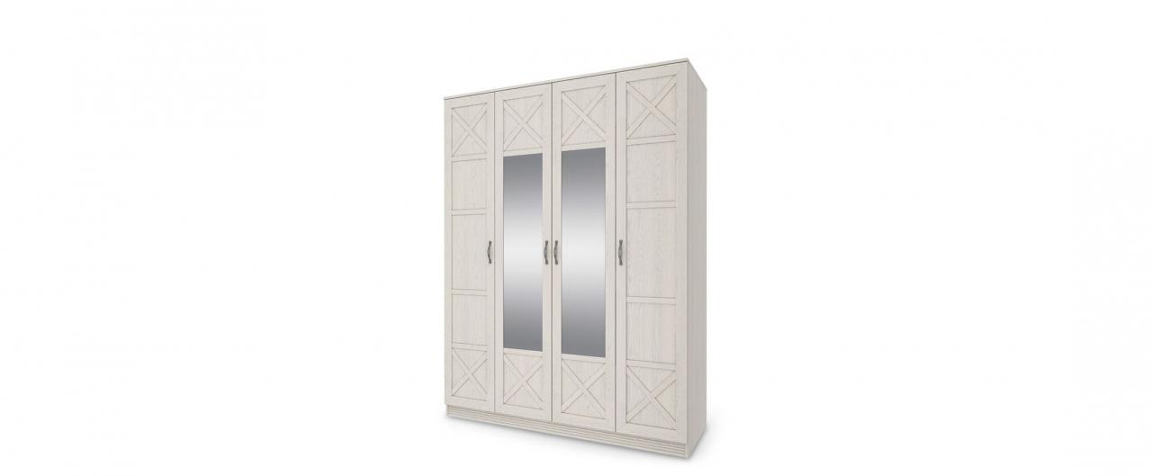 Шкаф 4-дверный с зеркалом ЛозаннаШкаф 4-дверный с зеркалом Лозанна Модель 292. Артикул Ш000082.<br>