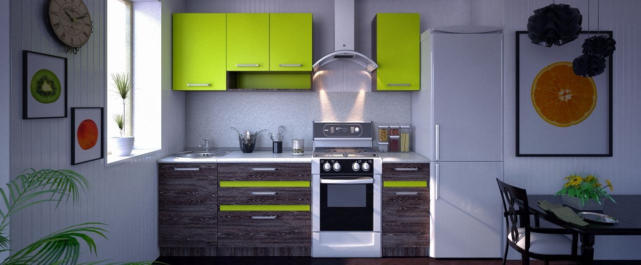 Купить Кухня Марсела лайм 1,7 м в интернет магазине корпусной и мягкой мебели для дома и дачи