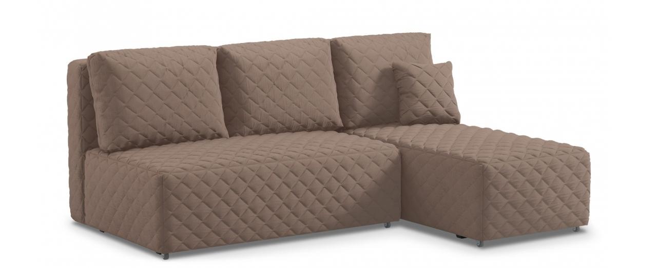 Диван угловой еврокнижка Марсель 087Гостевой вариант и полноценное спальное место. Размеры 217х163х94 см. Купить коричневый угловой диван еврокнижка в интернет-магазине MOON-TRADE.RU.<br>