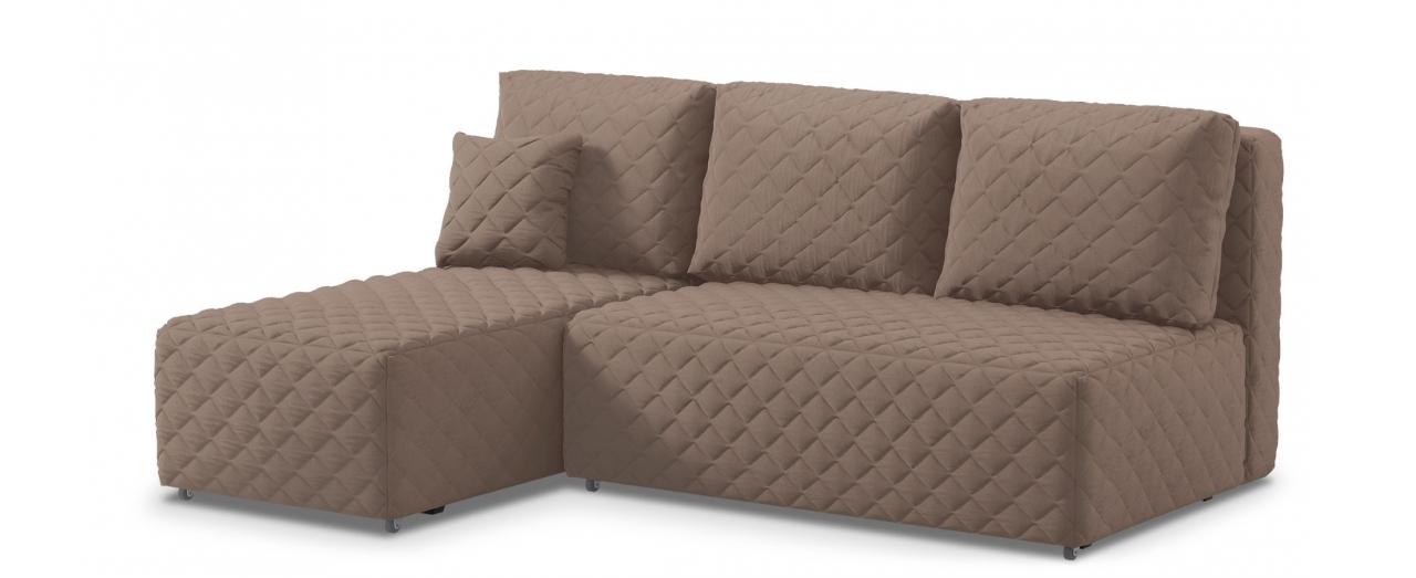 Диван угловой еврокнижка Марсель 087Гостевой вариант и полноценное спальное место. Размеры 217х163х94 см. Купить коричневый угловой диван еврокнижка в интернет-магазине MOON TRADE.<br>