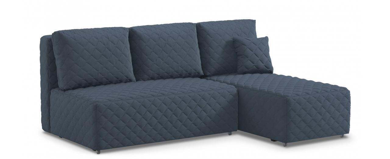 Диван угловой еврокнижка Марсель 087Гостевой вариант и полноценное спальное место. Размеры 217х163х94 см. Купить синий угловой диван еврокнижка в интернет-магазине MOON TRADE.<br>