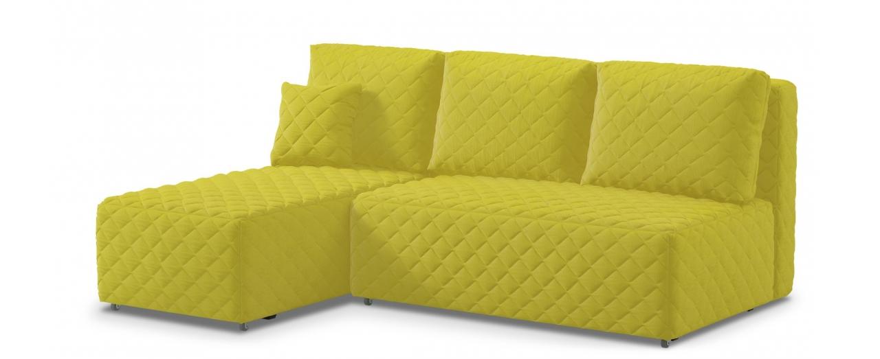 Диван угловой еврокнижка Марсель 087Гостевой вариант и полноценное спальное место. Размеры 217х163х94 см. Купить желтый угловой диван еврокнижка в интернет-магазине MOON TRADE.<br>