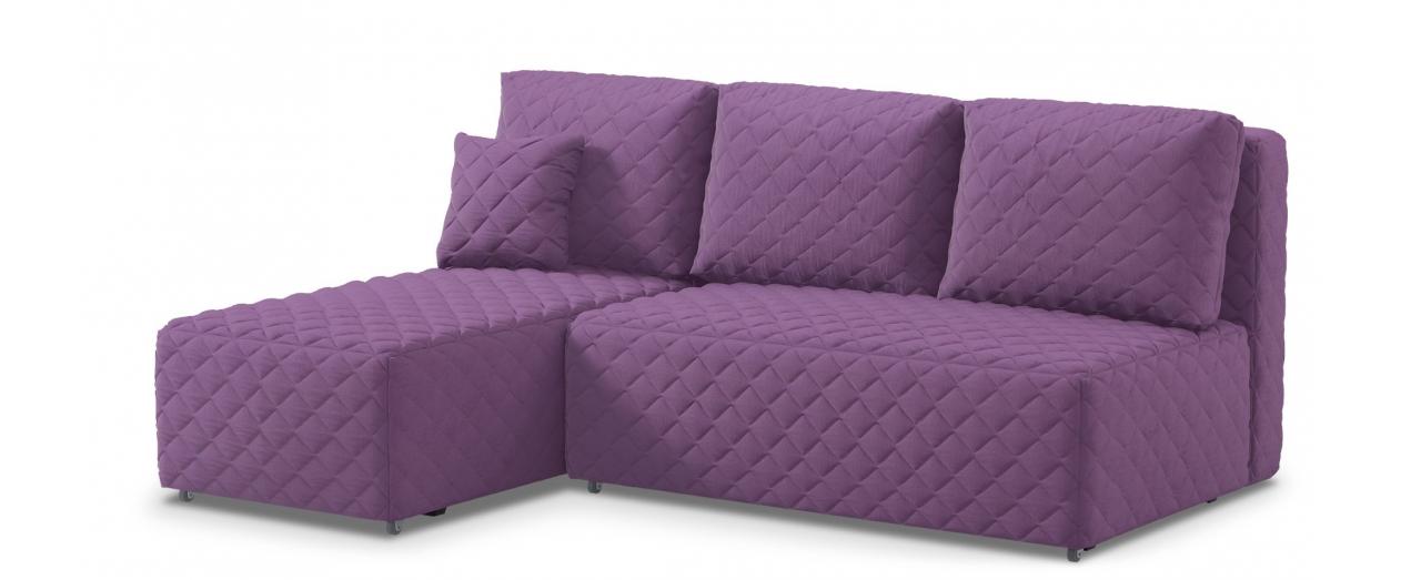 Диван угловой еврокнижка Марсель 087Гостевой вариант и полноценное спальное место. Размеры 217х163х94 см. Купить фиолетовый угловой диван еврокнижка в интернет-магазине MOON TRADE.<br>