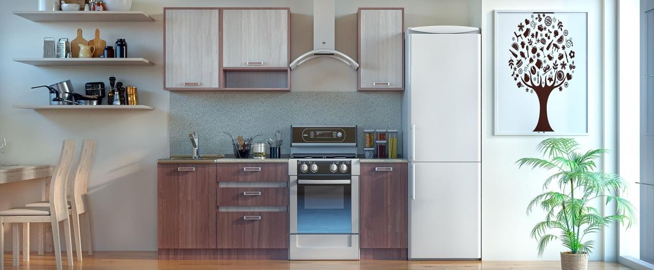 Купить Кухня Шимо темный 1,5 м в интернет магазине корпусной и мягкой мебели для дома и дачи