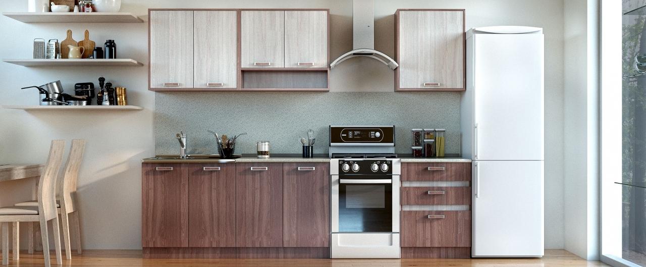 Купить Кухня Шимо темный 2,2 м в интернет магазине корпусной и мягкой мебели для дома и дачи
