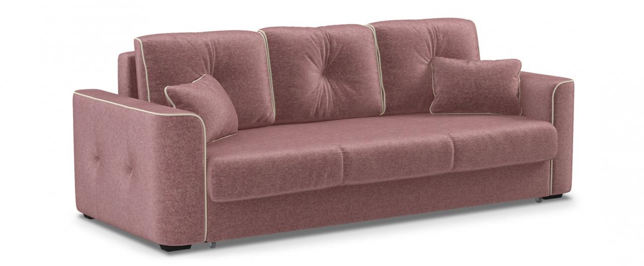 Диван прямой еврокнижка Турин 041Гостевой вариант и полноценное спальное место. Размеры 244х108х93 см. Купить розовый диван еврокнижка в интернет-магазине MOON TRADE.<br>