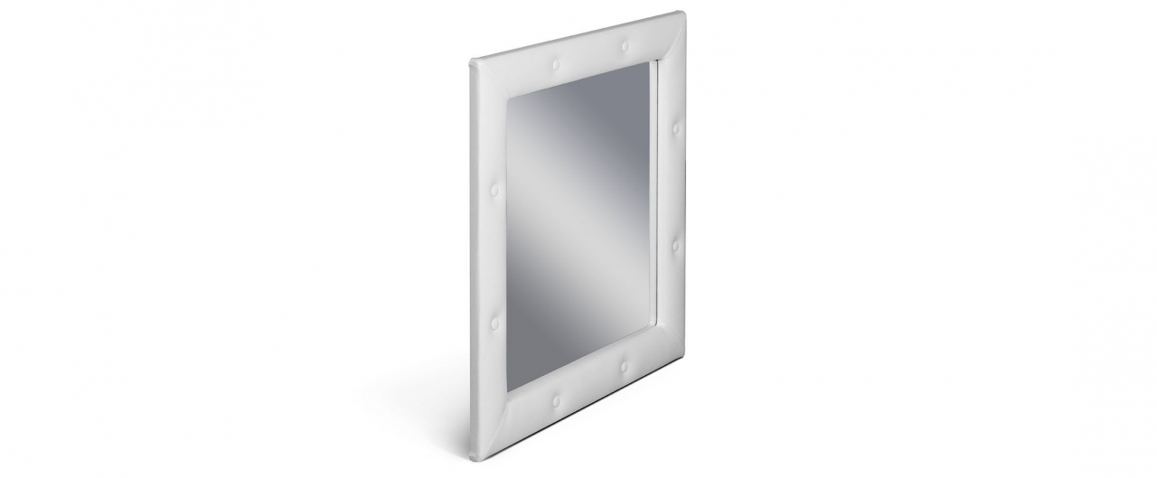 Зеркало Кааба марципанЗеркало навесное в спальню. Обивка из экокожи с декоративными пуговицами. Артикул: К000441<br>