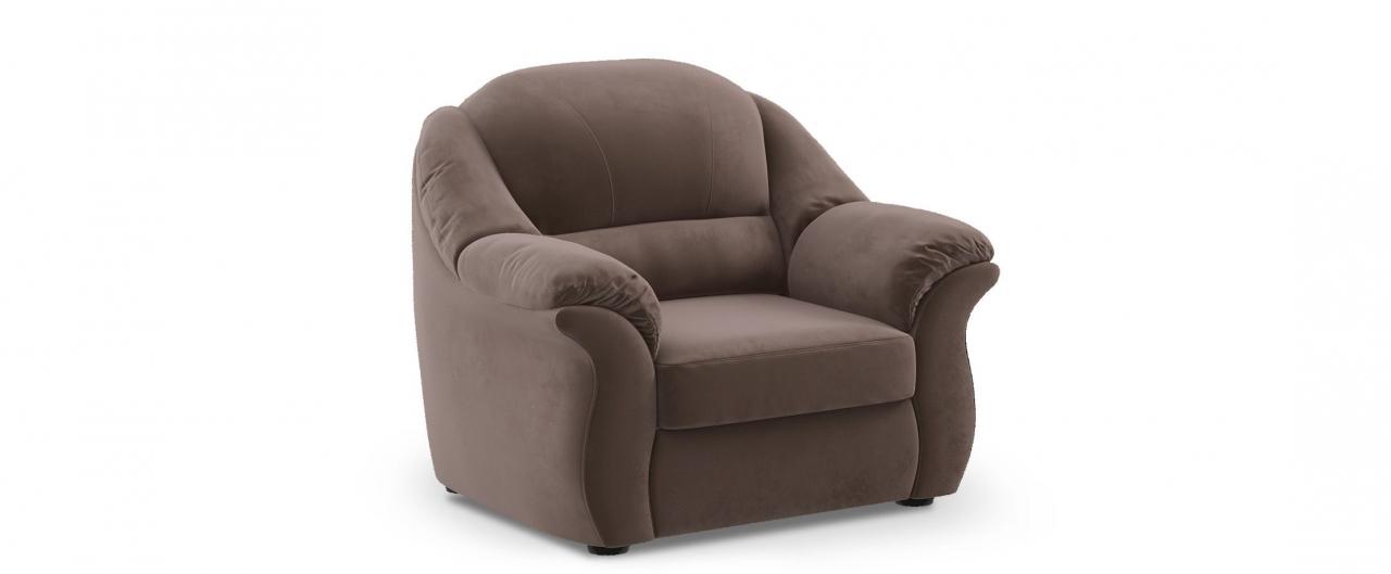 Кресло Бостон 017Купить коричневое кресло Бостон из флока от производителя. Доставка от 1 дня. Подъём, сборка, вынос упаковки. Гарантия 18 месяцев. Интернет-магазин мебели MOON TRADE.<br>