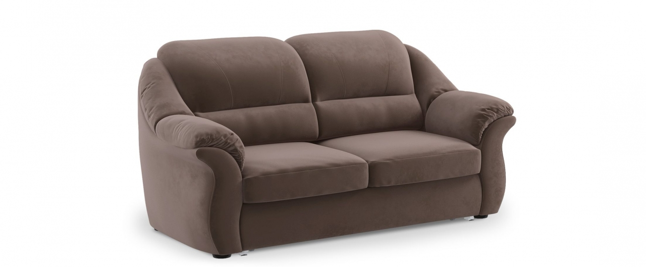 Диван прямой высоковыкатной Бостон 017Гостевой вариант и полноценное спальное место. Размеры 202х92х99 см. Купить коричневый диван высоковыкатной в интернет-магазине MOON-TRADE.RU.<br>