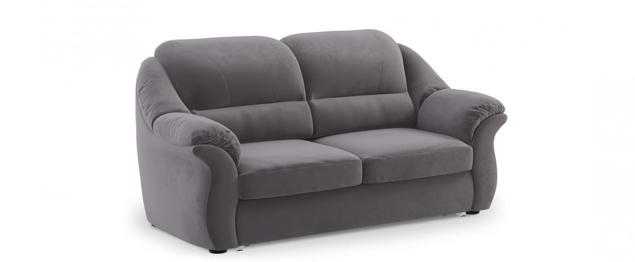 Диван прямой высоковыкатной Бостон 017Гостевой вариант и полноценное спальное место. Размеры 202х92х99 см. Купить серый диван высоковыкатной в интернет-магазине MOON TRADE.<br>